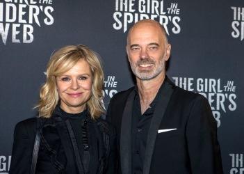 Ulrika Nilsson och Niklas Hjulström på sverigepremiären av senaste Milleniumfilmen.