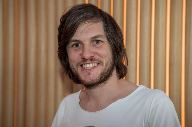 Rasmus Arvidsson från Avantgardet som grammisnominerats i klassern rock.