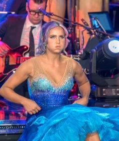 Linnéa Claesson är nervös för dansen