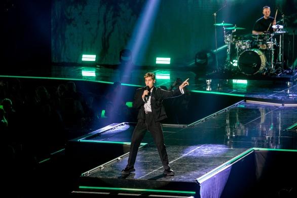 Benjamin Ingrosso uppträdde på galan.
