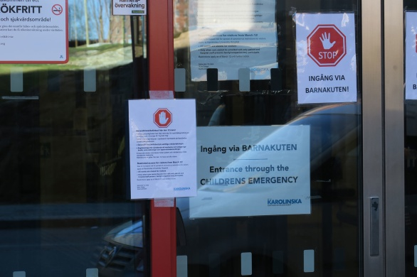 Inga obehöriga eller anhöriga släpps in på sjukhuset