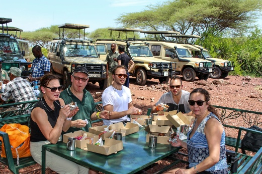 Lunch vid Lake Manyara