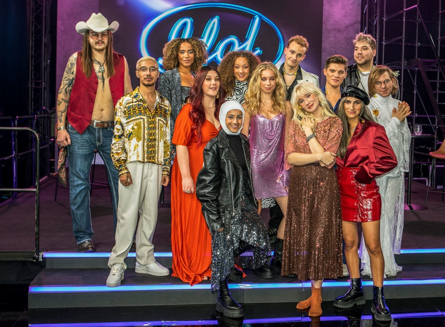 Idolfinalisterna i första fredagsfinalen