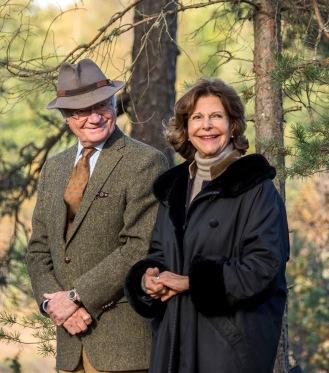 Kung Carl XVI Gustaf och drottning Silvia