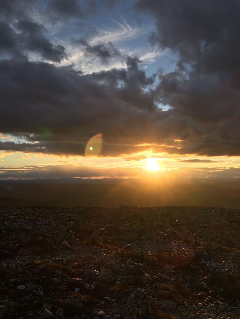 Solnedgång från Sånfjällets topp