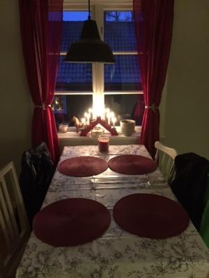 Lite julstämning i köket