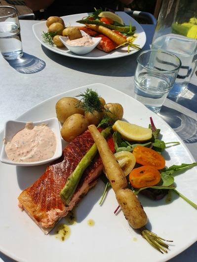 Underbar lunch på Rökeriet i Laholm