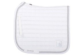 SD® SHOW COLLECTION SADDLEPAD - Dressage FULL White/Silver