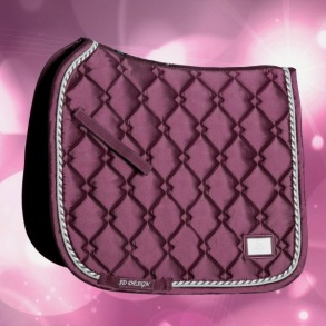 SD® GEM COLLECTION SADDLEPAD IN RUBY - Dressage FULL