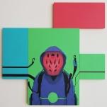 Everyone 122 cm x 122 cm, Acrylics on MDF-board