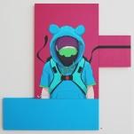 Anyone 122 cm x 122 cm, Acrylics on MDF-board