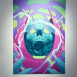 """""""Glow"""" 68cm x 47cm, Acrylics on MDF"""