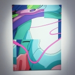 """Background16.jpg"" 65cm x 47cm, Acrylics on MDF, (In Stockholm Läns Landstings Collection."