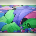 """""""Lights out"""" 118cm x 68cm, Acrylics on MDF"""