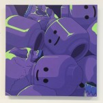 """Sleep"", 48,5x48,5cm, acrylics on MDF"