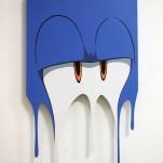 """M00D/8"", Acrylics on form sawed MDF, 48x80cm (Sold)"