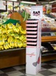 Display ställ butik (224st bananflugefällor)