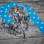 Zebra med turkosa stjärnor 104