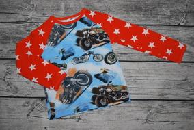 Motorcyklar och stjärnarmar 104 - Motorcyklar med orangea stjärnarmar