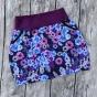 Perfect Skirt XL välj mellan 23 olika tyger - Lila blomsteräng