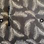Perfect Skirt XL välj mellan 23 olika tyger - Grå med vita fjädrar