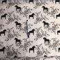 Perfect Skirt XL välj mellan 23 olika tyger - Svart/vit dalahäst