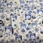 Perfect Skirt XL välj mellan 23 olika tyger - Blåa dalahästar