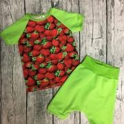 Tisha+haremshorts gröna ärmar 80-134