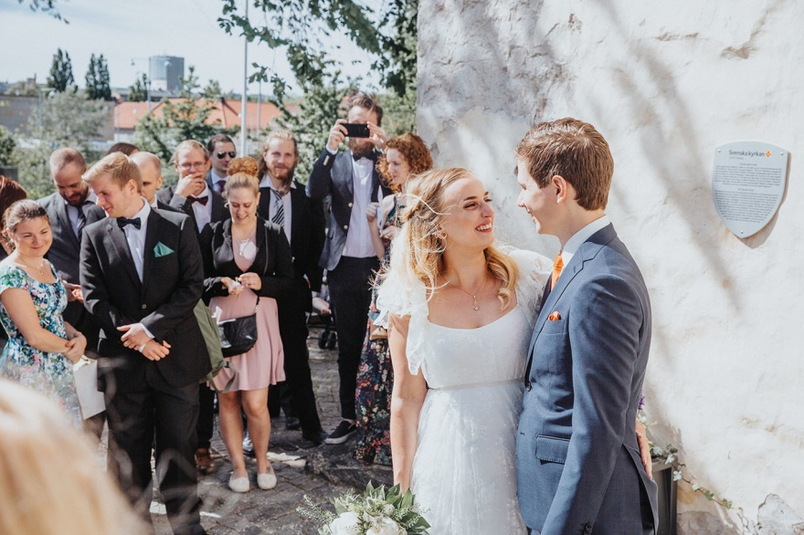 Bröllopsfotograf halsmtad