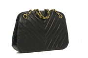 Chanel Chevron Shoulder Bag Kisslock