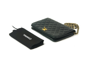 CHANEL Single Full Flap Svart