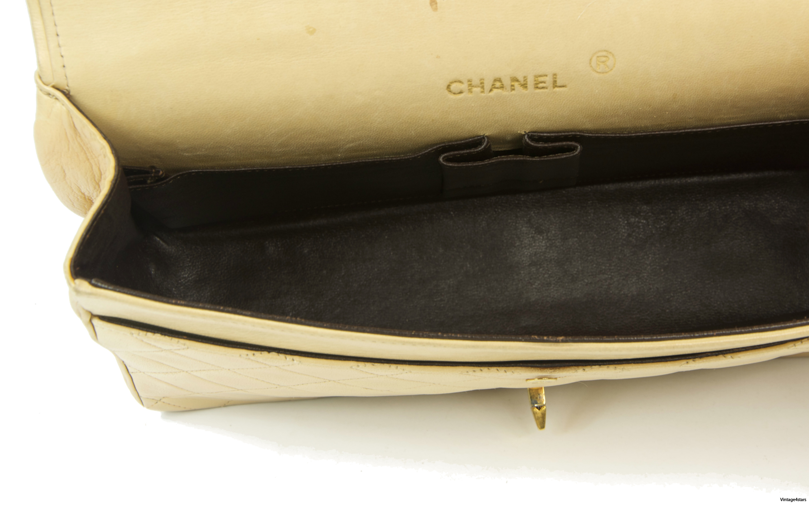 CHANEL Double Flap Beige 16