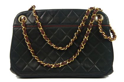 CHANEL Quilted Shoulder Bag Kisslock
