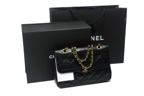 CHANEL Double Flap Paris Edition Large