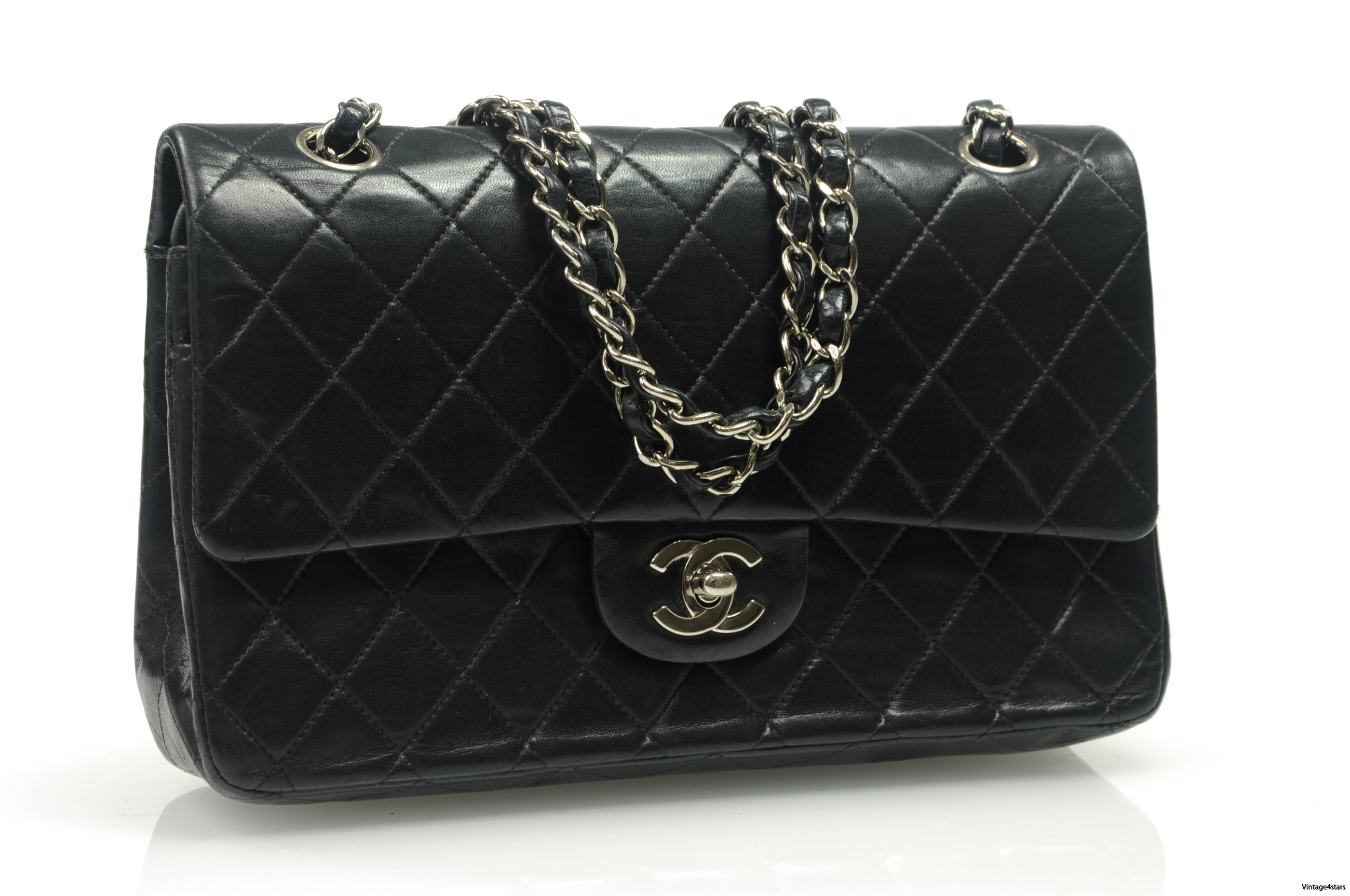 CHANEL Double Flap SHW 2