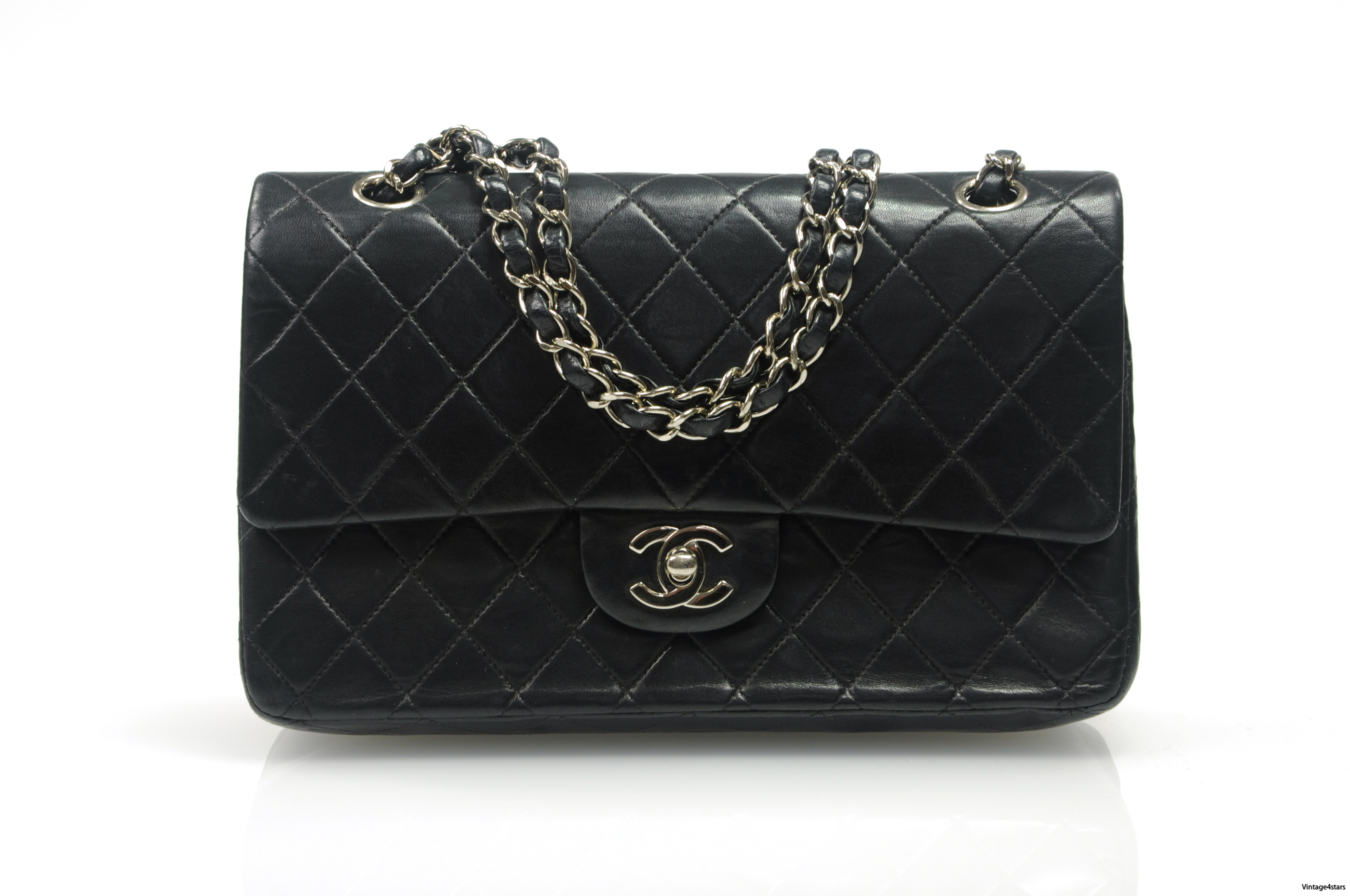 CHANEL Double Flap SHW 3