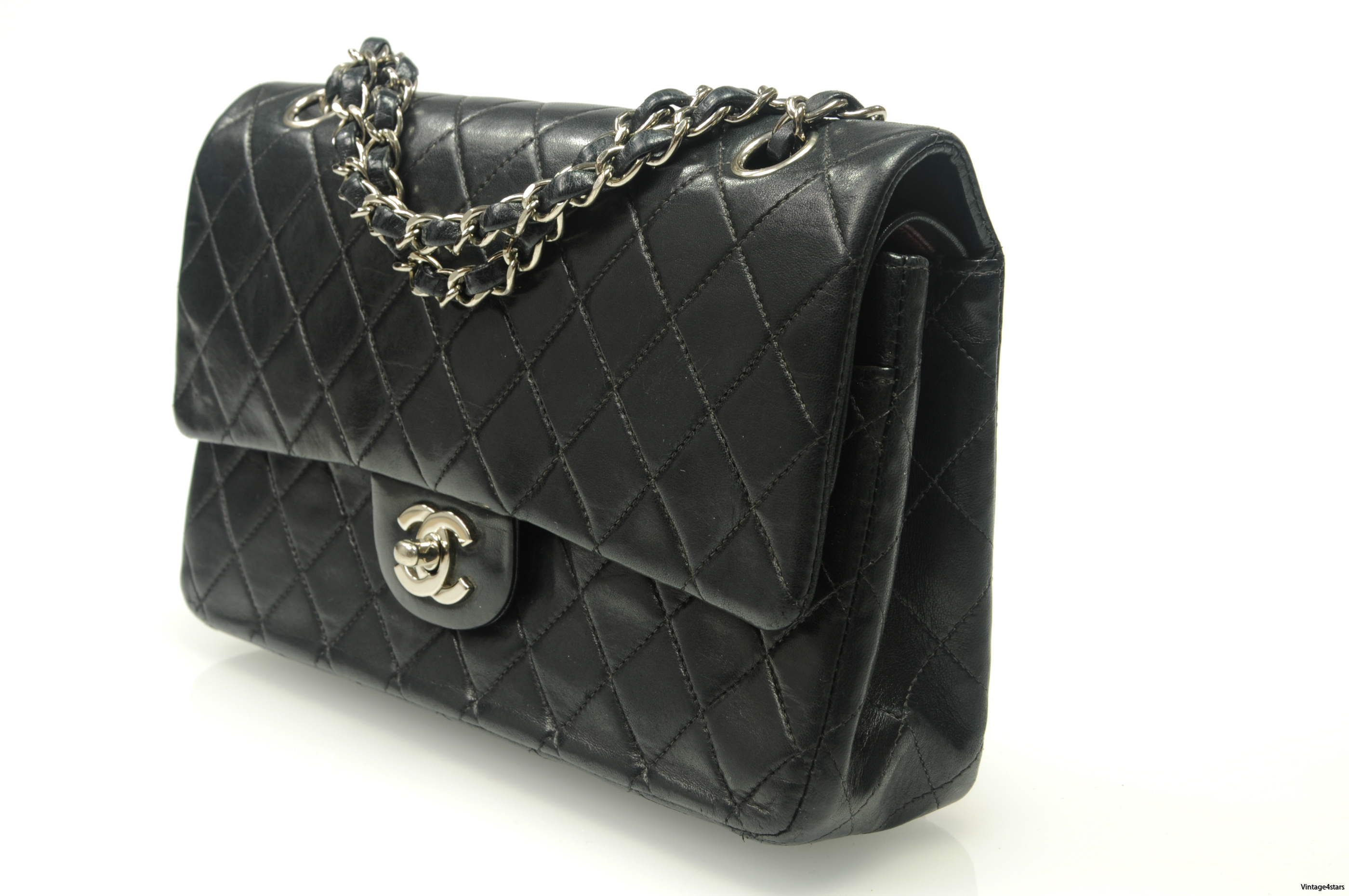 CHANEL Double Flap SHW 5