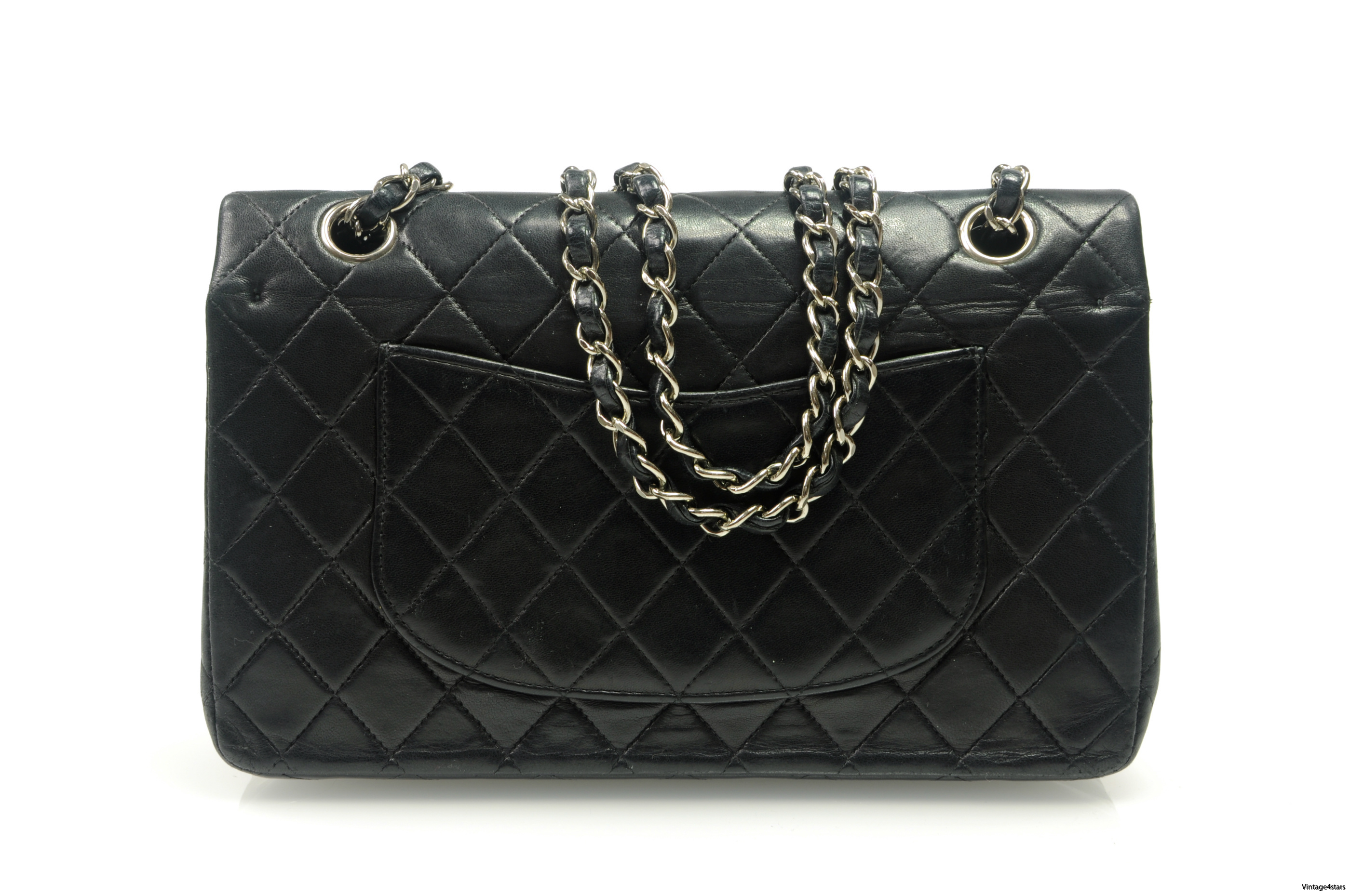 CHANEL Double Flap SHW 9