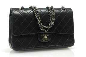 CHANEL Double Flap Medium Silver HW