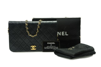 CHANEL Single Full Flap Dark Navy - CHANEL Single Full Flap