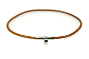 HERMÈS Bracelet/Necklace Choker Palladium