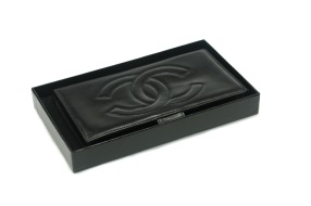 CHANEL Wallet Lambskin Black