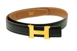 HERMÈS Constance Slim H Belt Box/ Courchevel - HERMÈS Constance Slim H Belt