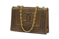 CHANEL Single Flap LIZARD