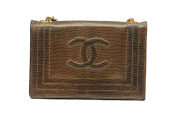 CHANEL Single Full Flap Lizard