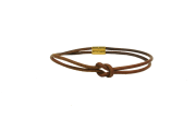 HERMÈS Bracelet/Necklace Knot Leather