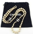 CHANEL Pearl Necklace Long