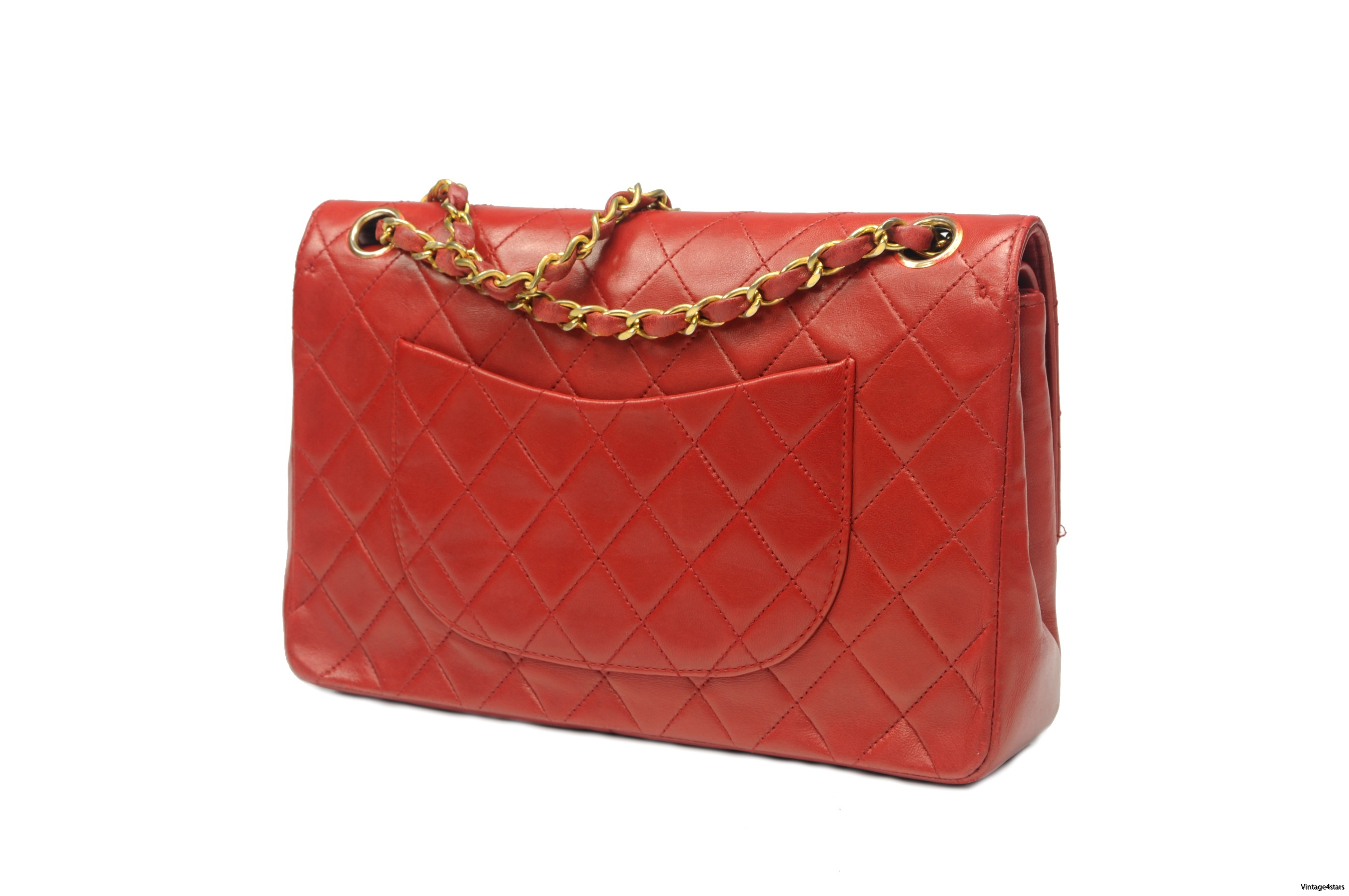 CHANEL Double Flap red 2