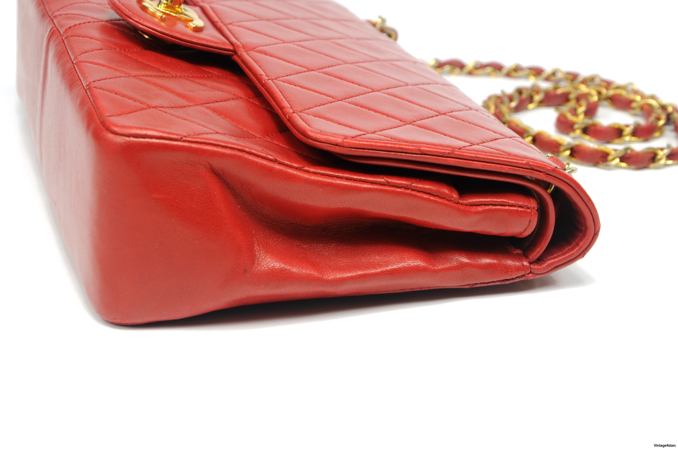 CHANEL Double Flap red 8