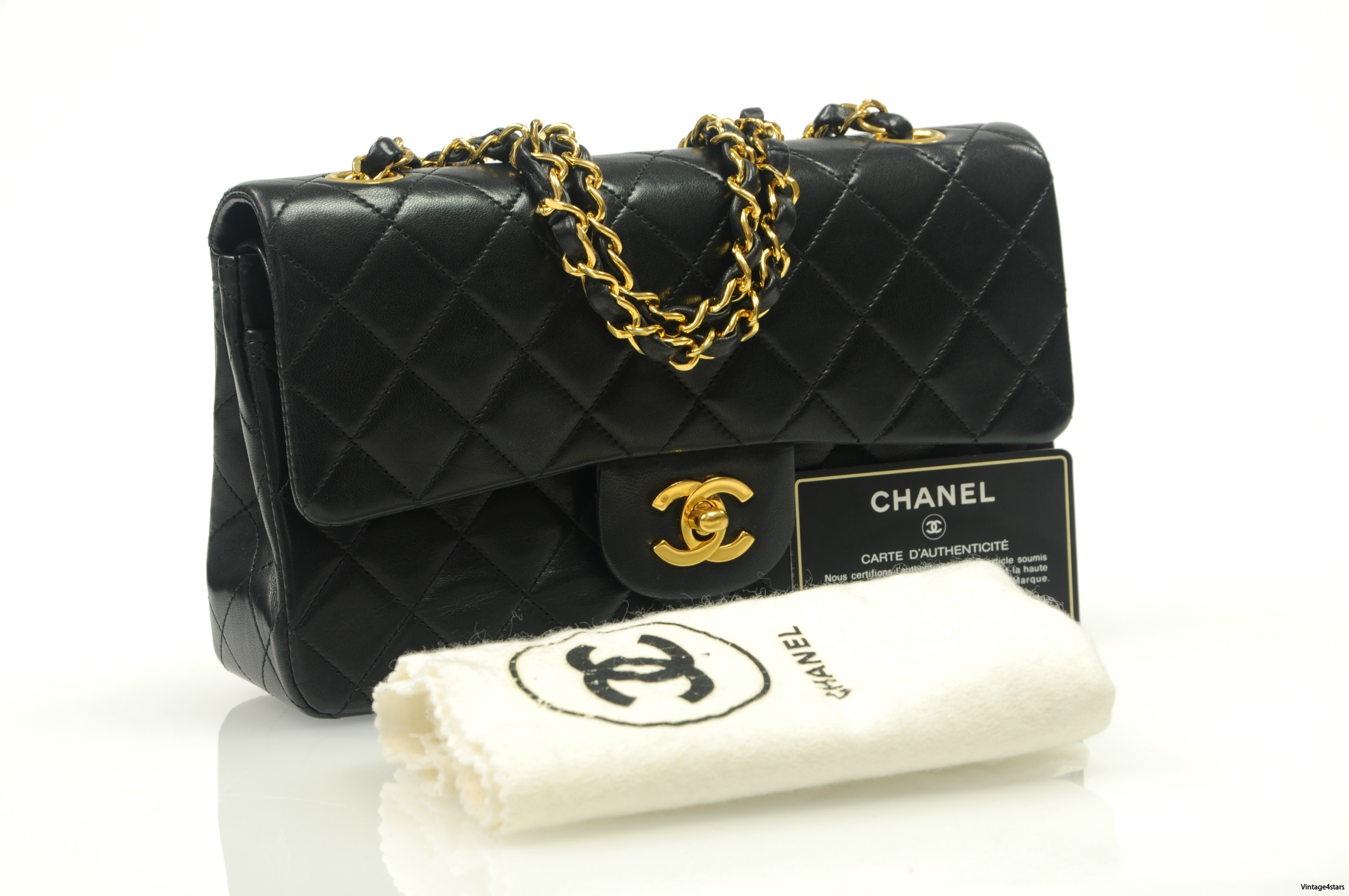 CHANEL Double Flap Small 100